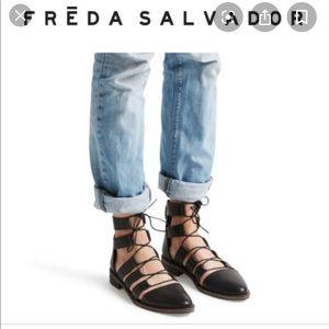 Freda lace up flats